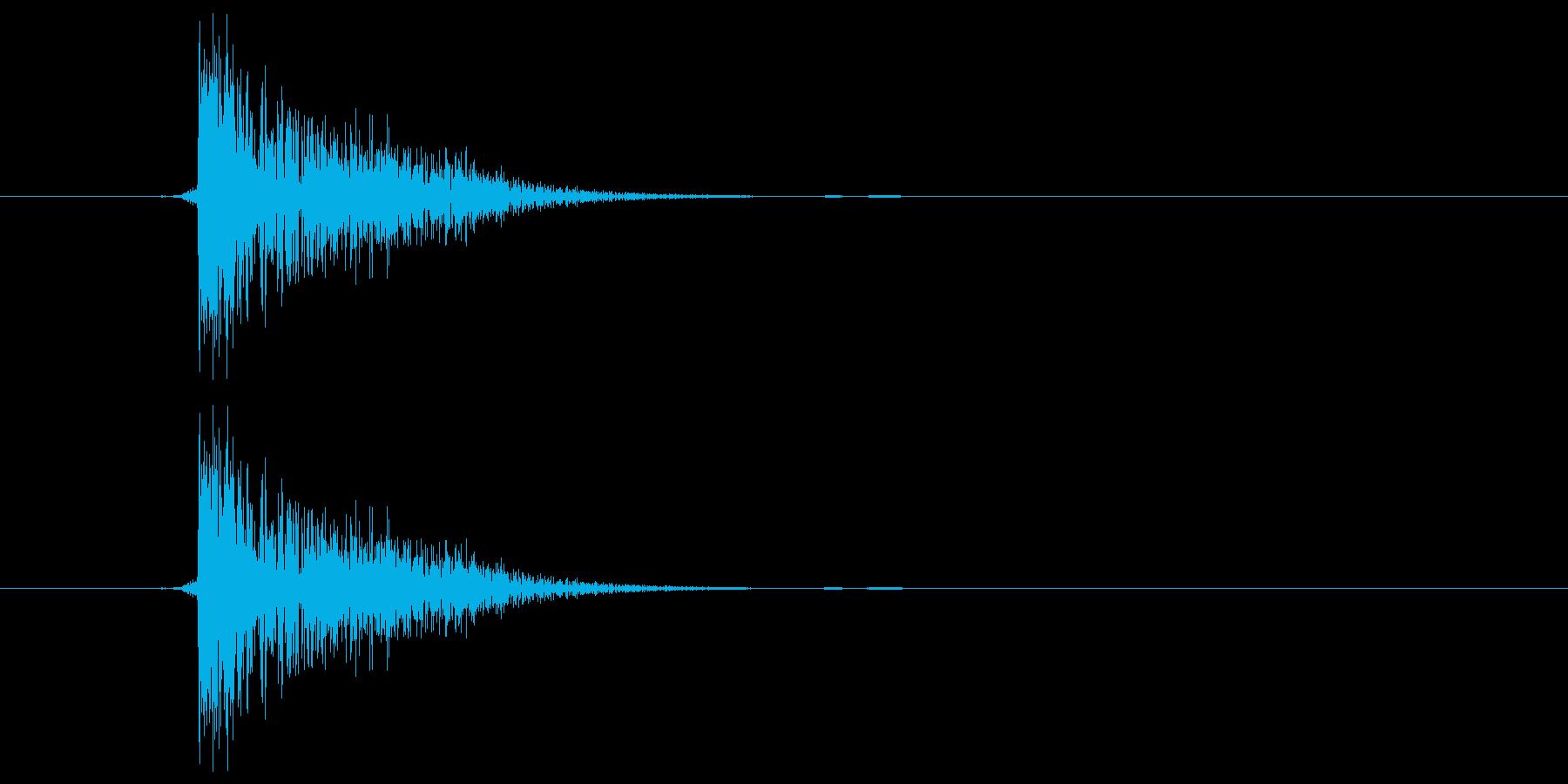 ピシャ(ビンタ)の再生済みの波形