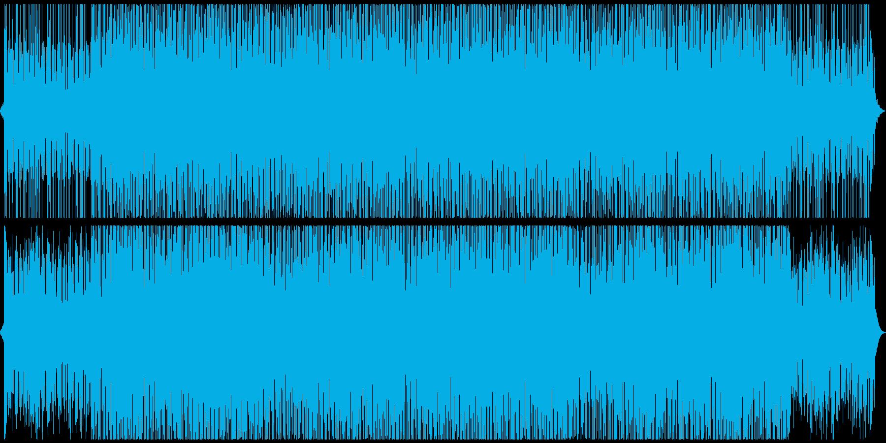 明るい和風のオープニング・ダンスポップの再生済みの波形