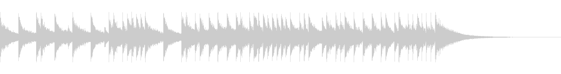 15秒のヘヴィなハードロック系ドラムソロの未再生の波形