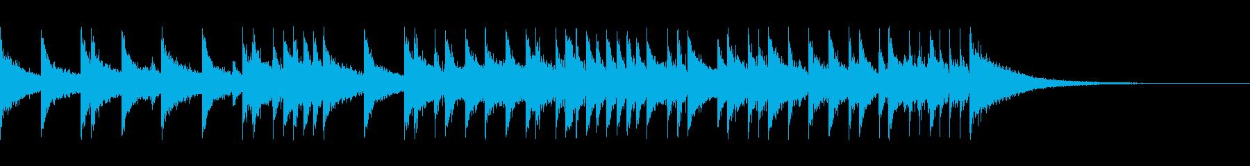 15秒のヘヴィなハードロック系ドラムソロの再生済みの波形