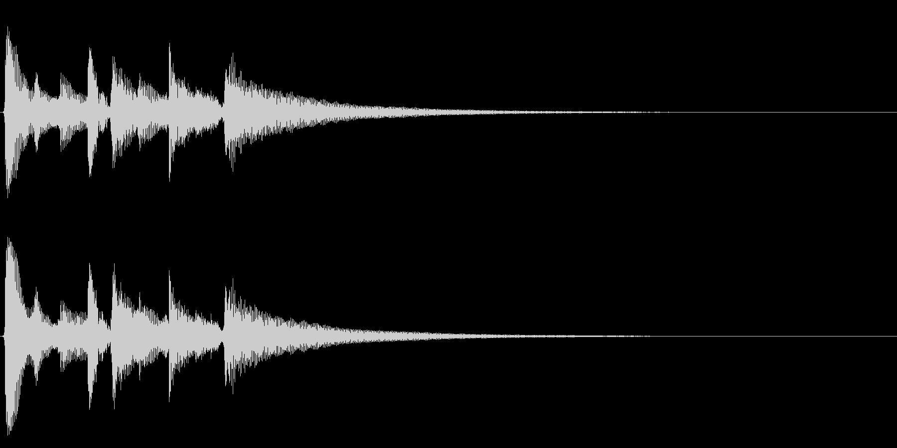 ★アコギ生音のジングル/リスタートの未再生の波形