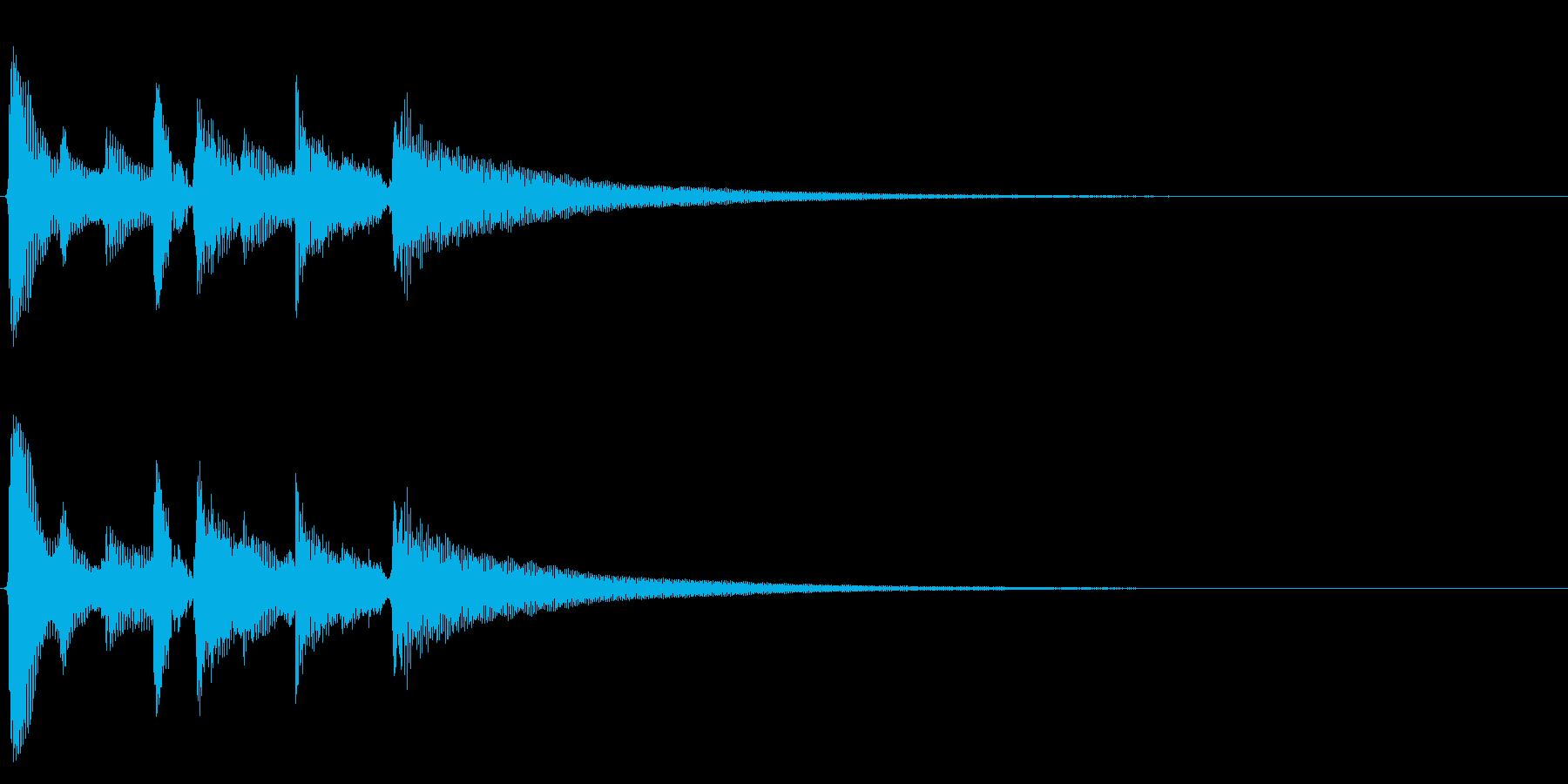 ★アコギ生音のジングル/リスタートの再生済みの波形