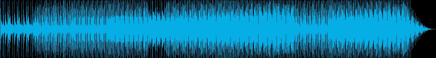 今にも変われそうな雰囲気のエレクトロニカの再生済みの波形