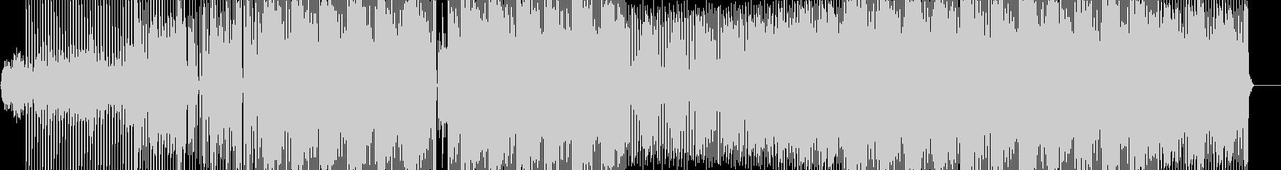 繰り返しリズムの音像の連続。の未再生の波形