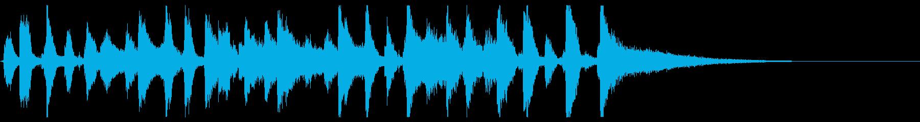 生演奏ジングル15秒・陽気なピアノジャズの再生済みの波形