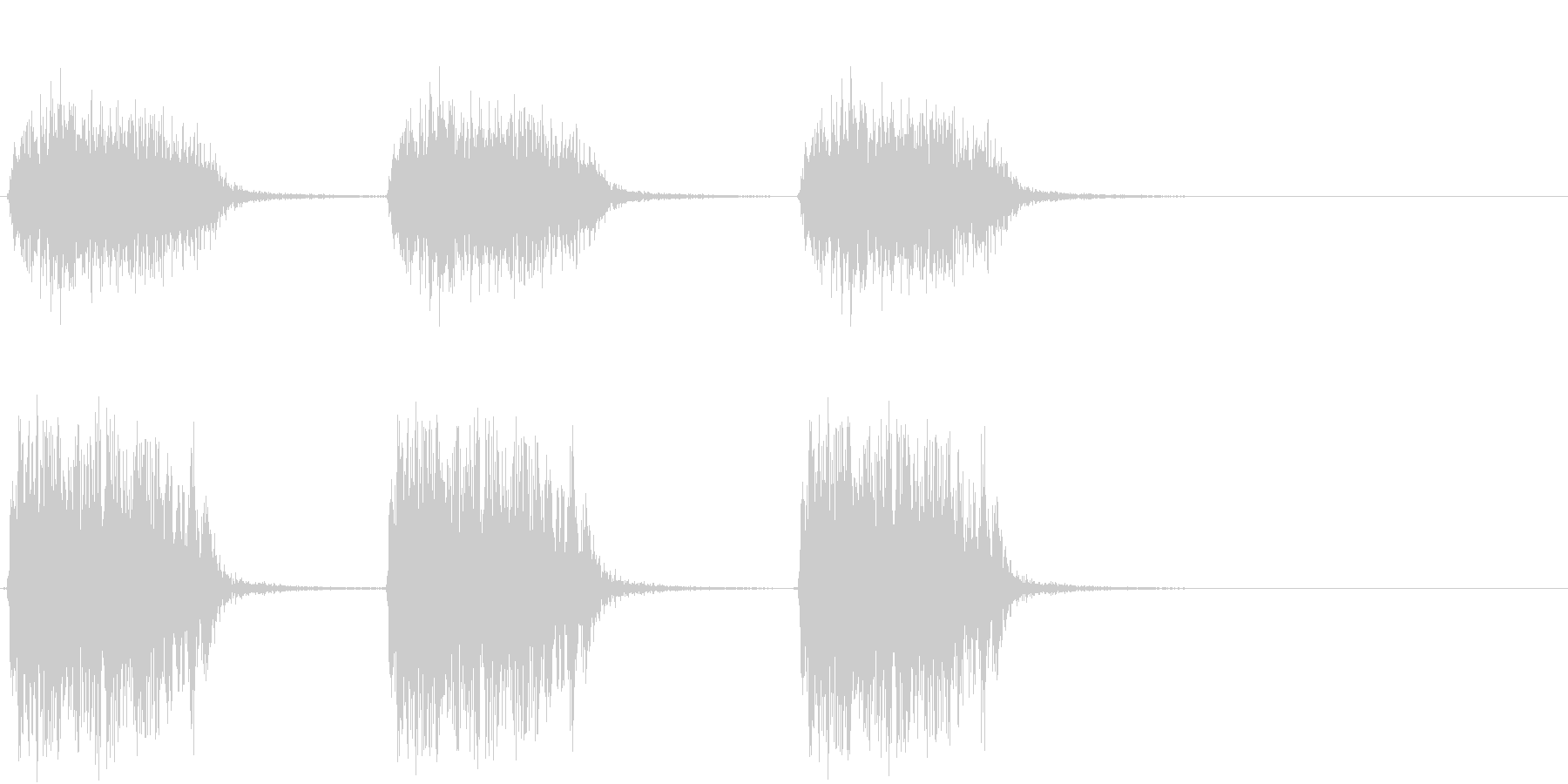 【生録音】カラスの鳴く音1 カーカーカーの未再生の波形
