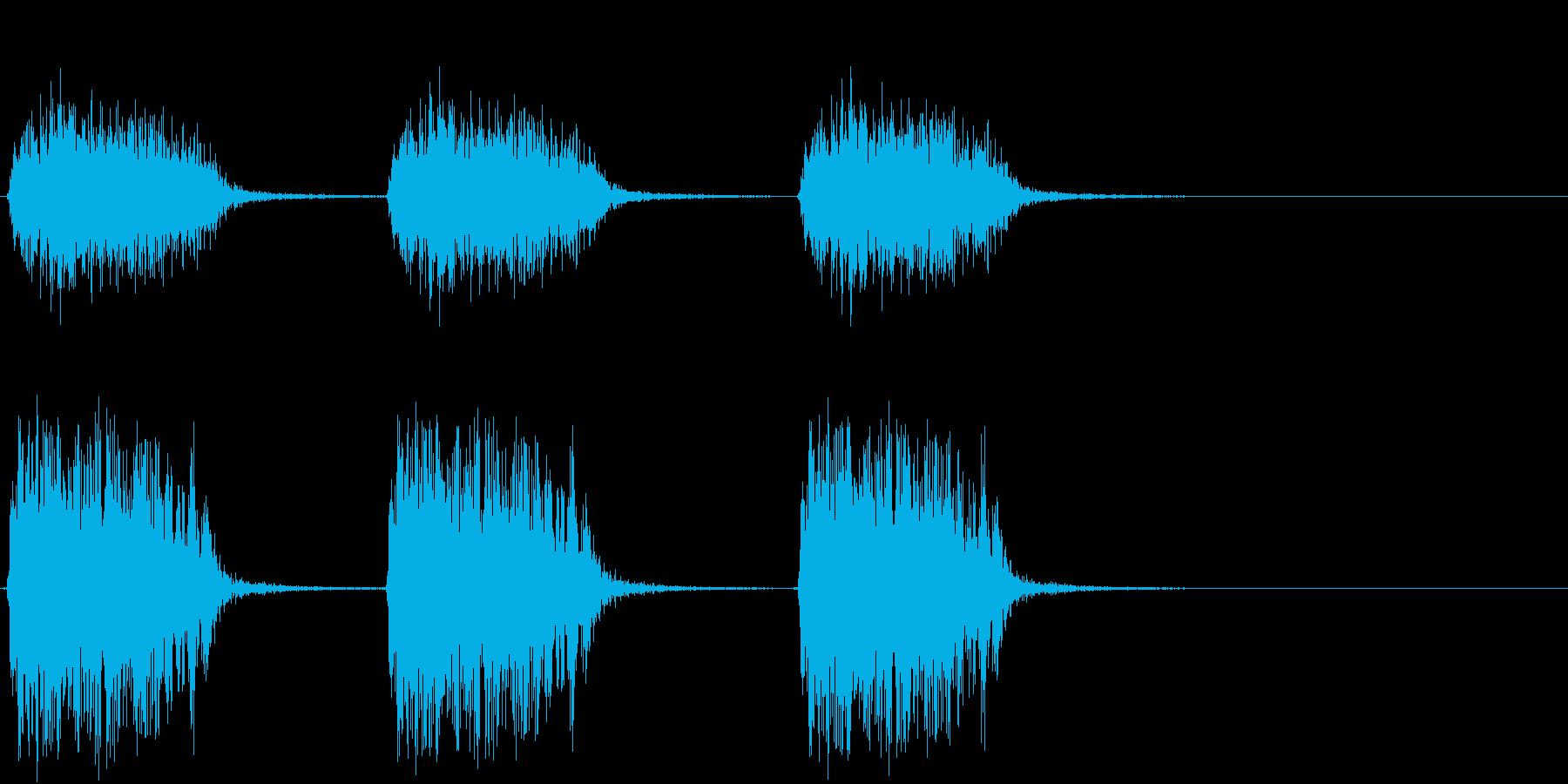 【生録音】カラスの鳴く音1 カーカーカーの再生済みの波形