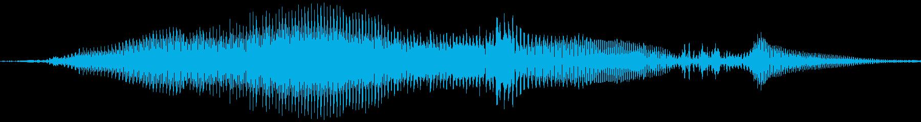 死の叫び1; 10男性の悲鳴、さまざまなの再生済みの波形
