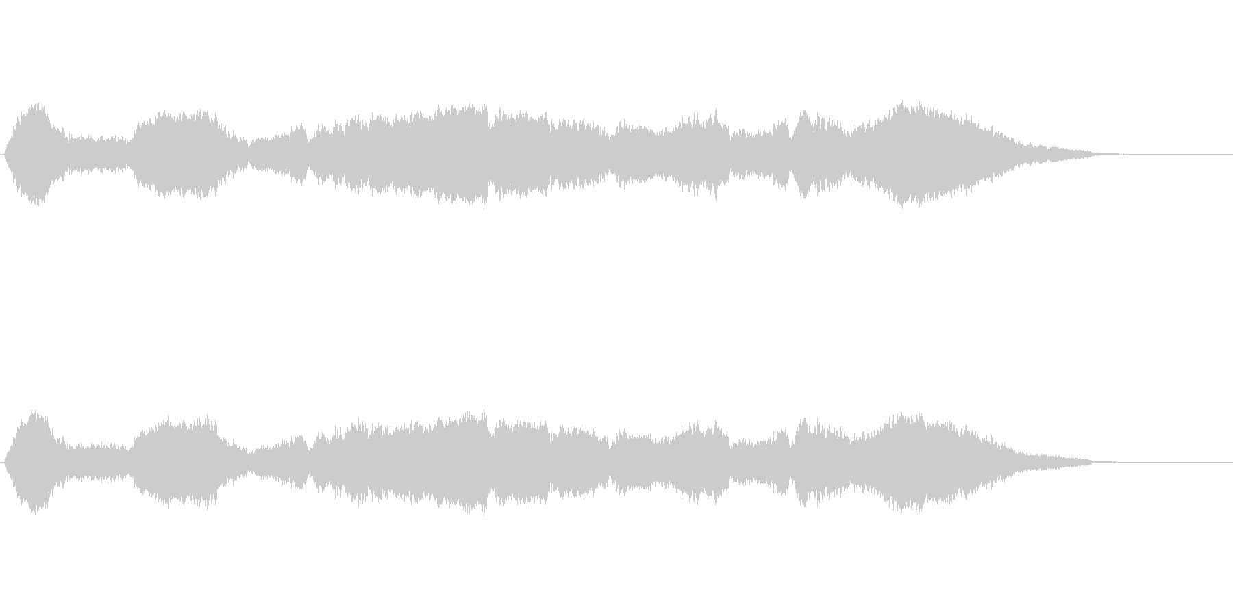静かで暗い雰囲気の曲の未再生の波形