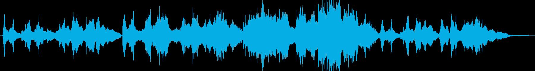 ソロバイオリンメロディーの美しいピ...の再生済みの波形