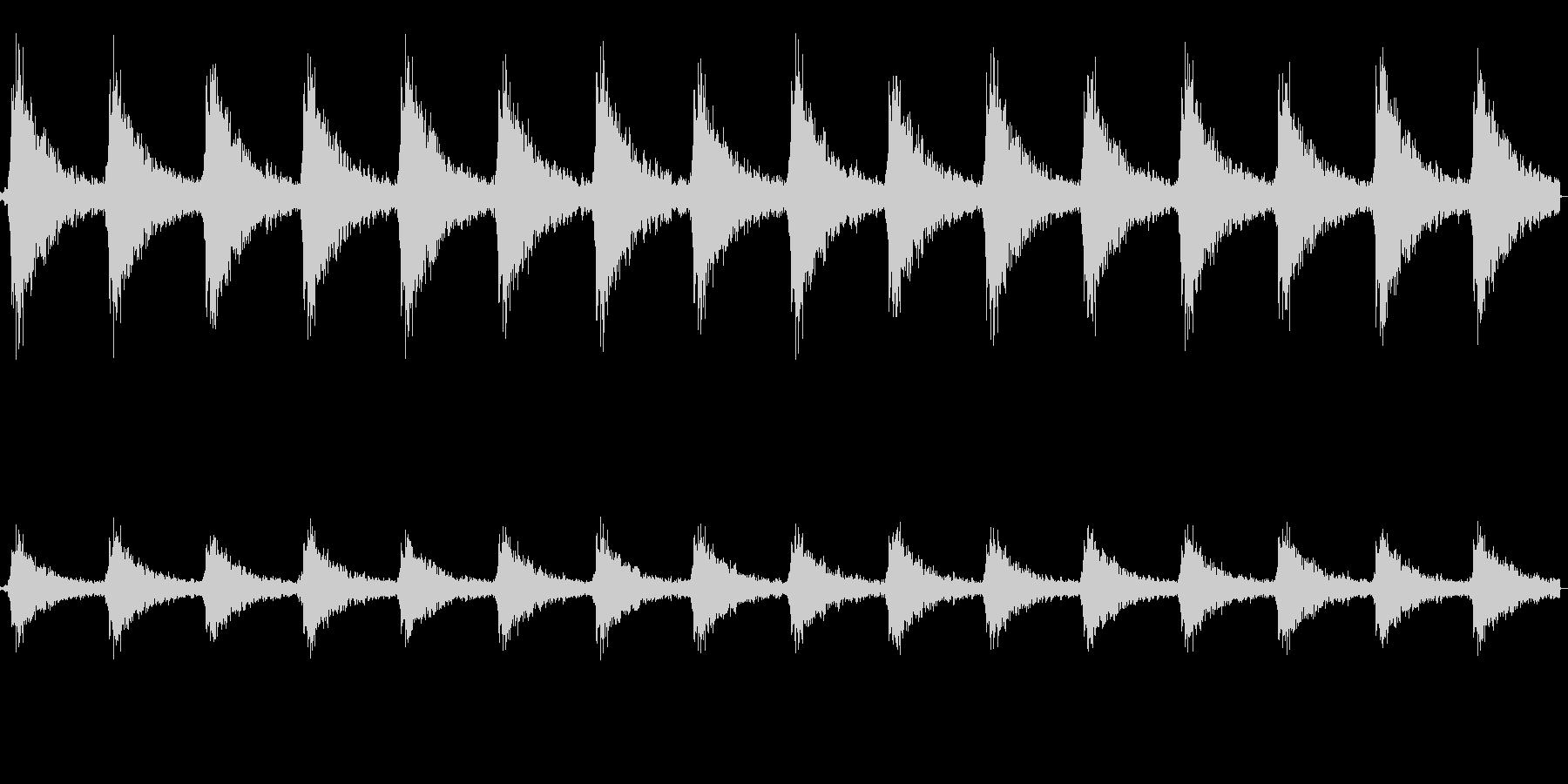 ジングルベル(クリスマスの鈴)の未再生の波形