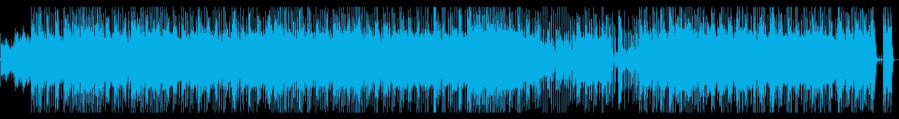 ヘビーなサウンドのハードロックの再生済みの波形