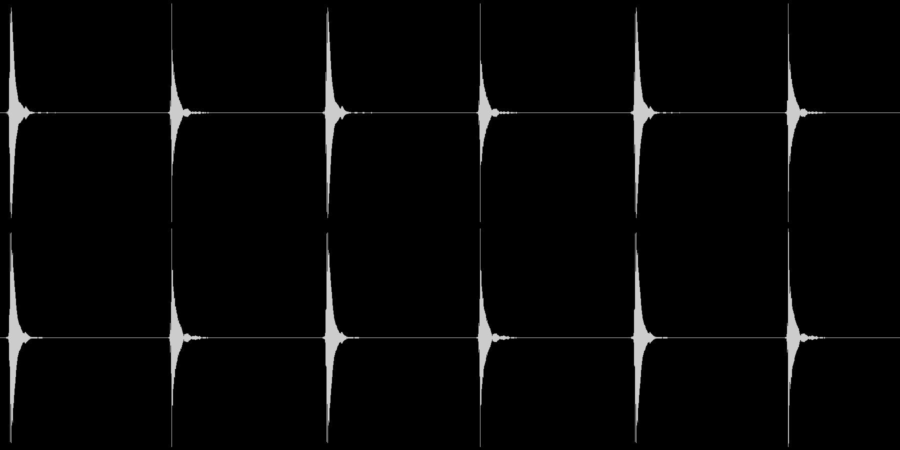シンキングタイムA ポッ、コッ×3の未再生の波形