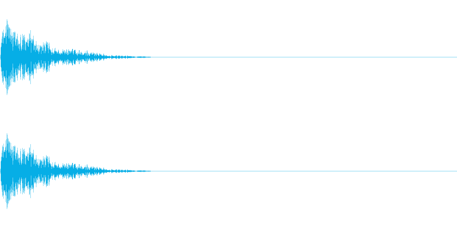 LoFiドラムキット03-スネア02の再生済みの波形