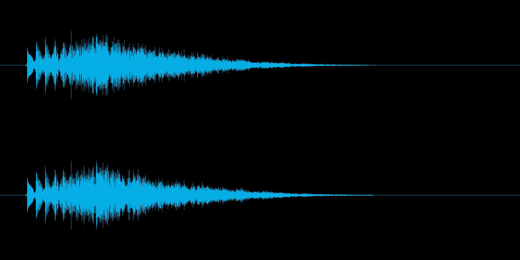 キラキラ(グリッサンド)の再生済みの波形