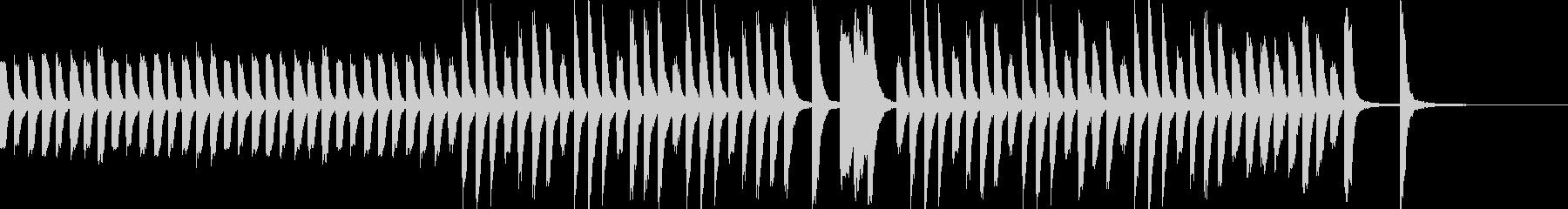ほのぼのカワイイ教育子供シーンピアノソロの未再生の波形