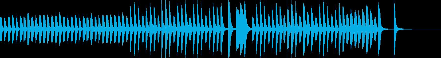 ほのぼのカワイイ教育子供シーンピアノソロの再生済みの波形