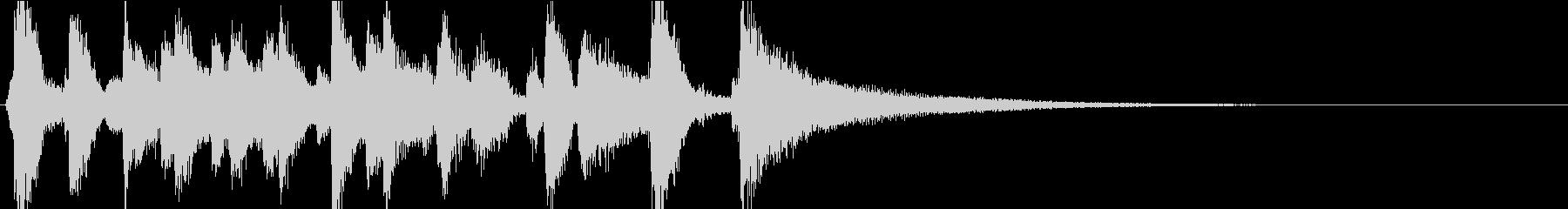 陽気なスイングピアノレトロジャズの未再生の波形