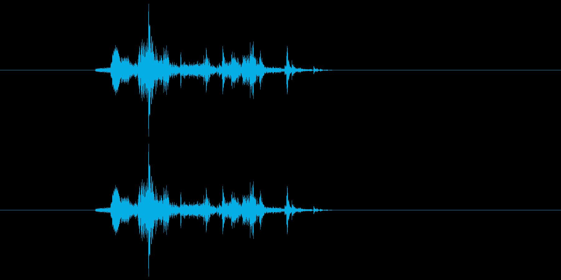 金属落下音の再生済みの波形