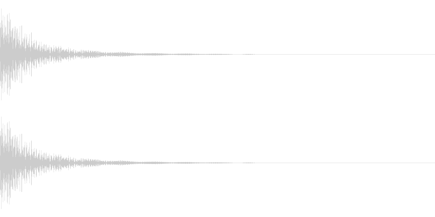 大太鼓 ドドン 中くらいの速さの未再生の波形