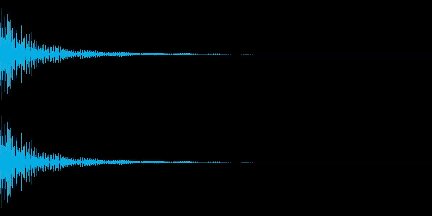 大太鼓 ドドン 中くらいの速さの再生済みの波形