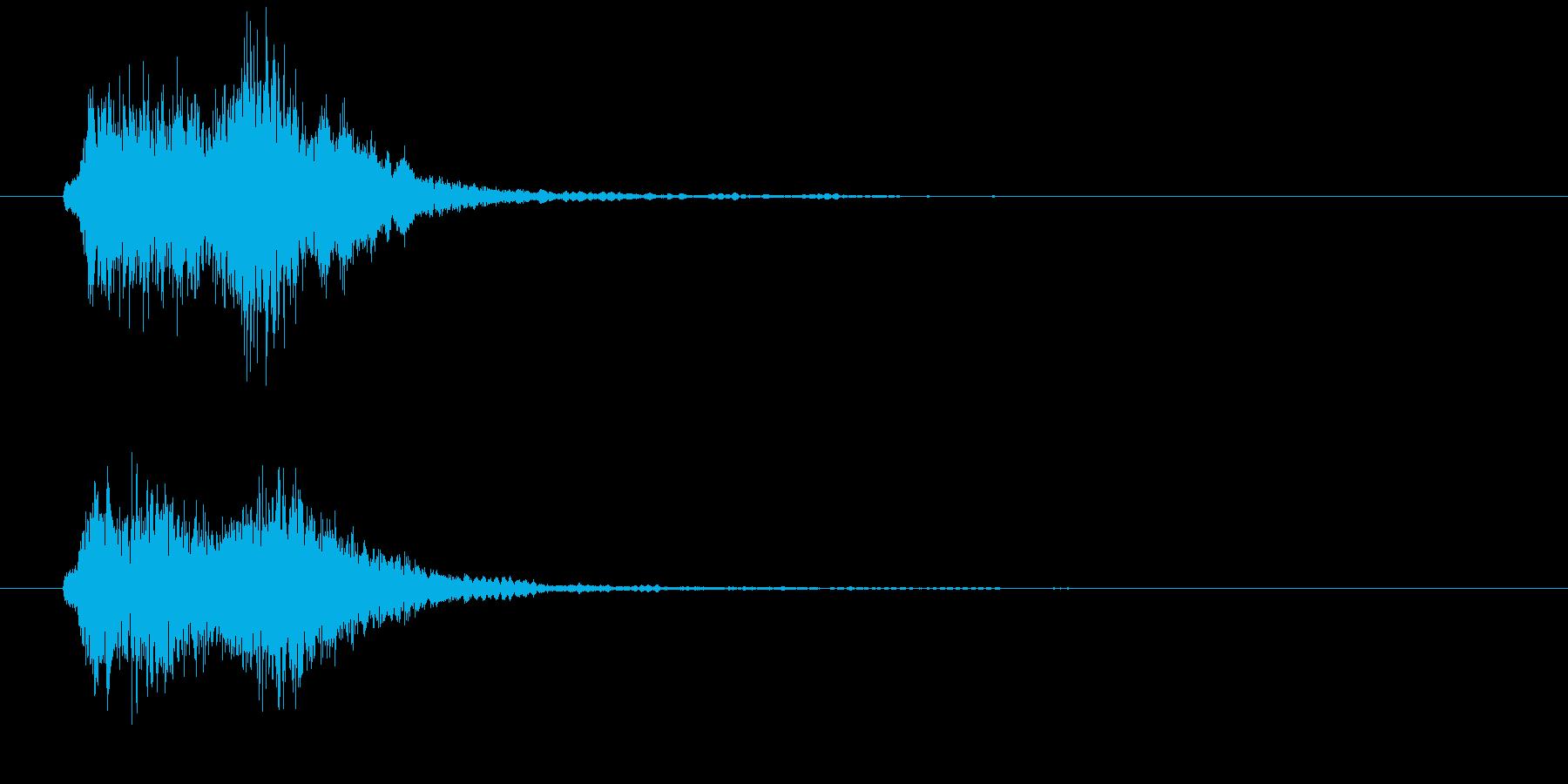 ストリングスによる場面展開の音の再生済みの波形
