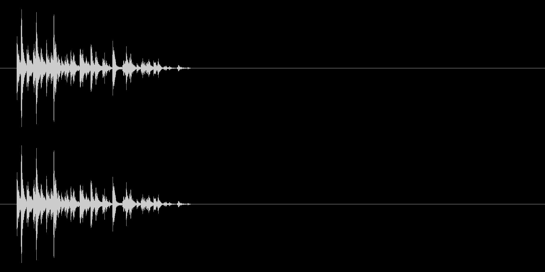 サイコロを振る/すごろく/ダイス_5個の未再生の波形