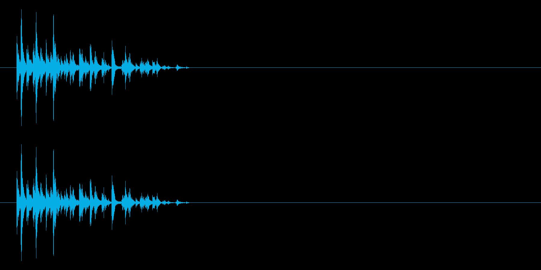 サイコロを振る/すごろく/ダイス_5個の再生済みの波形