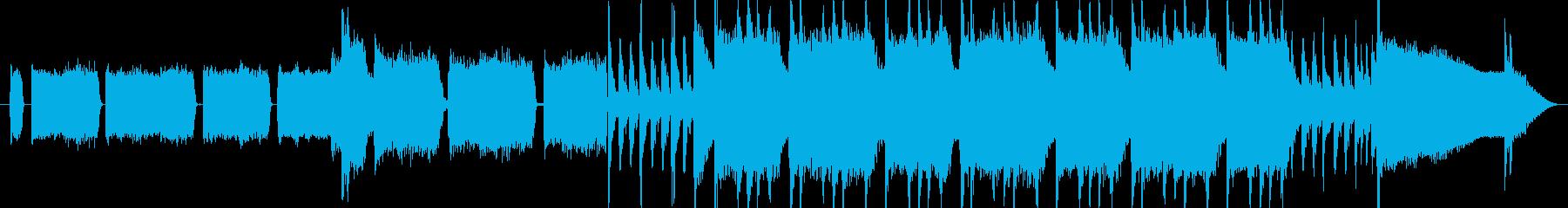 ロックテイストの明るいジングルの再生済みの波形
