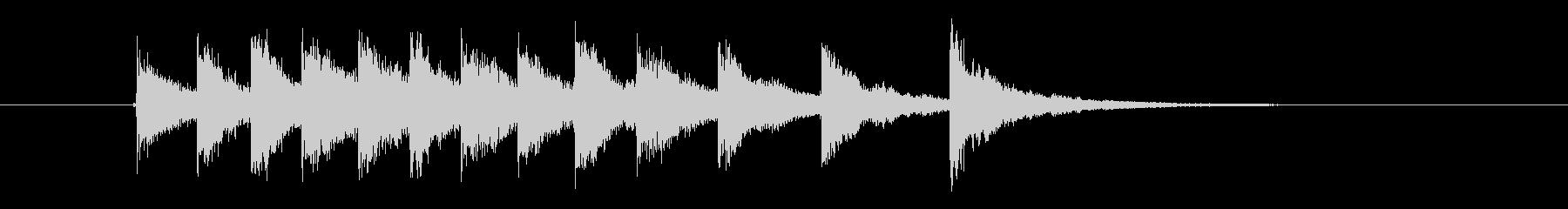 和楽器サンプリングのジングルの未再生の波形