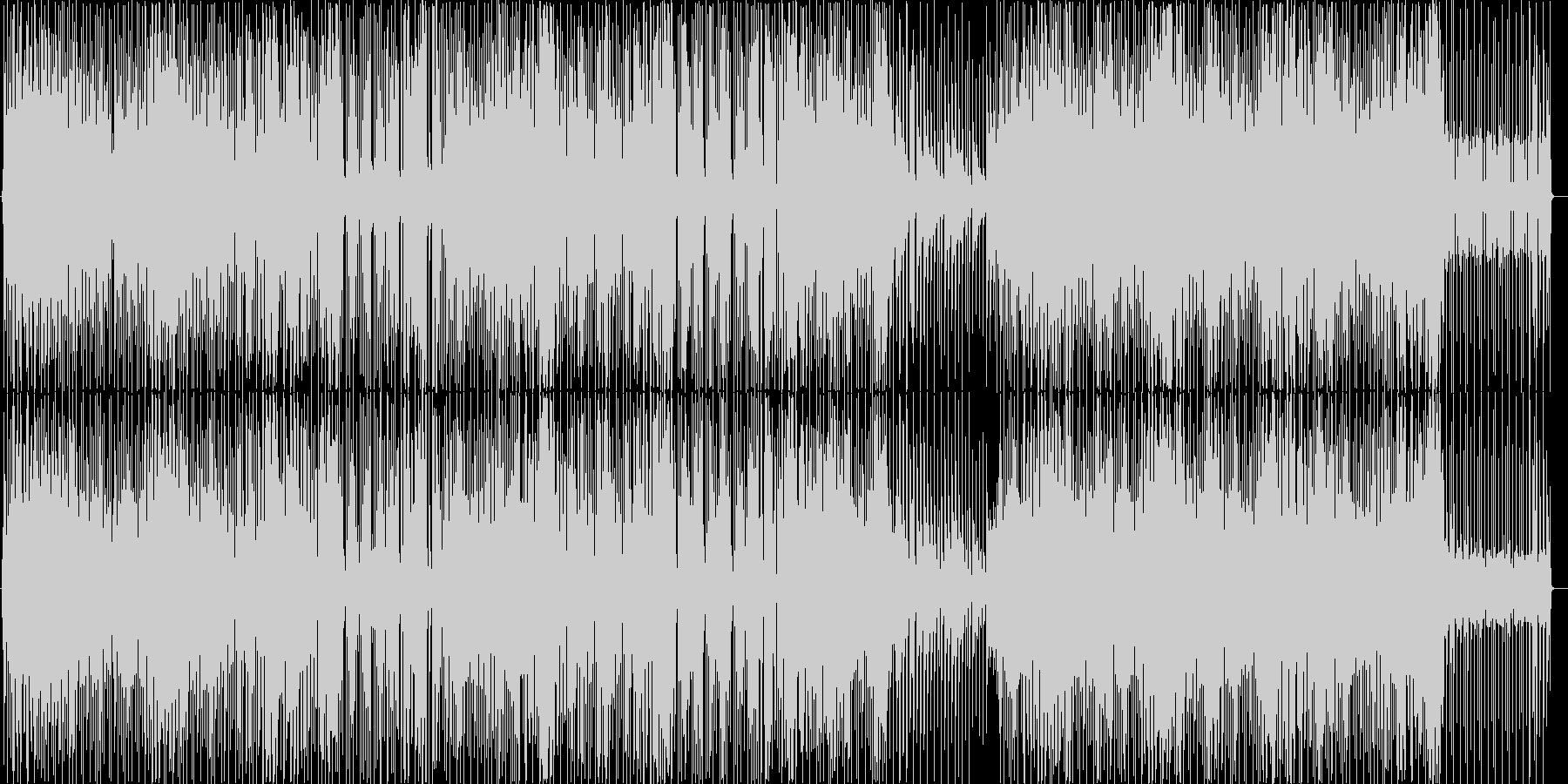 ディスコでキラキラした明るいBGMの未再生の波形
