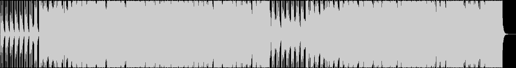 ハンドクラップの勢いのあるギターロックの未再生の波形