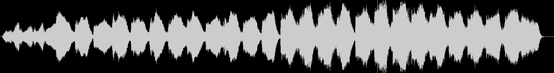 寂しげな管楽器やシンセなどのサウンドの未再生の波形