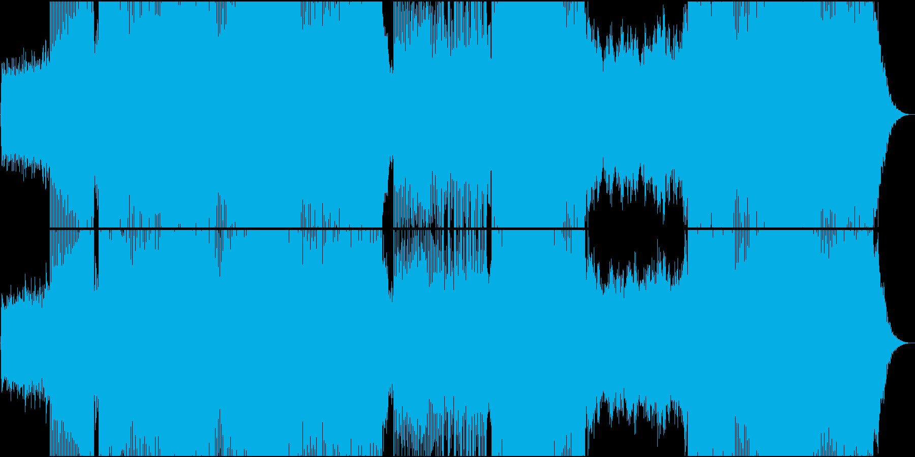 「別れの曲」トランス系アレンジの再生済みの波形