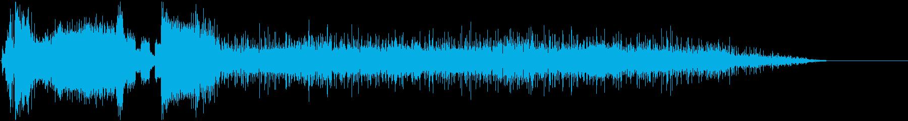 レバーガチャ⇨マシン作動⇨故障爆発⇨火事の再生済みの波形