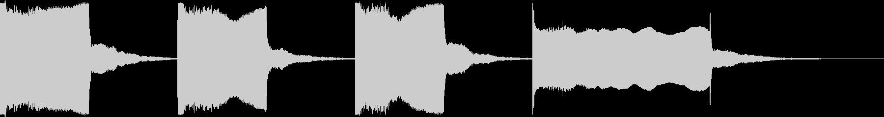 スタート合図音 カウントダウンの未再生の波形
