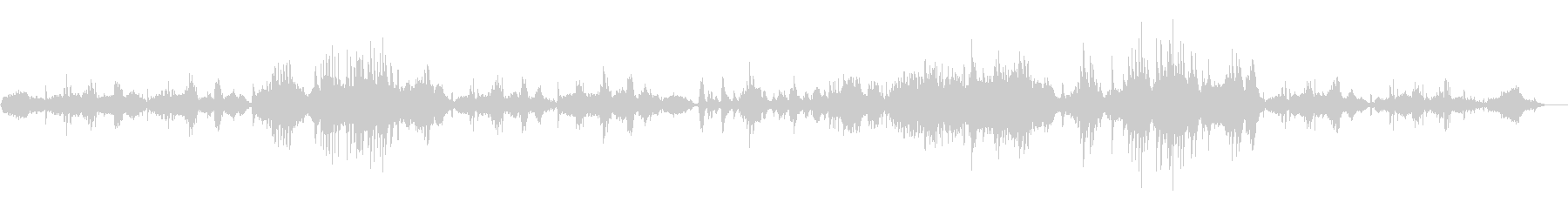ゆったりと切ないピアノソロ曲の未再生の波形