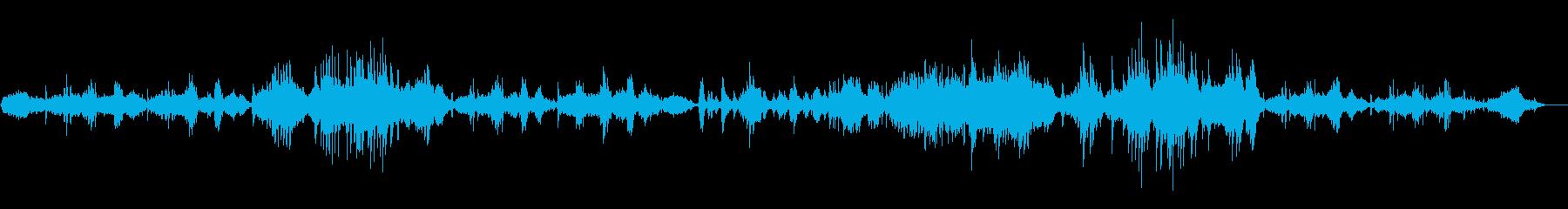 ゆったりと切ないピアノソロ曲の再生済みの波形