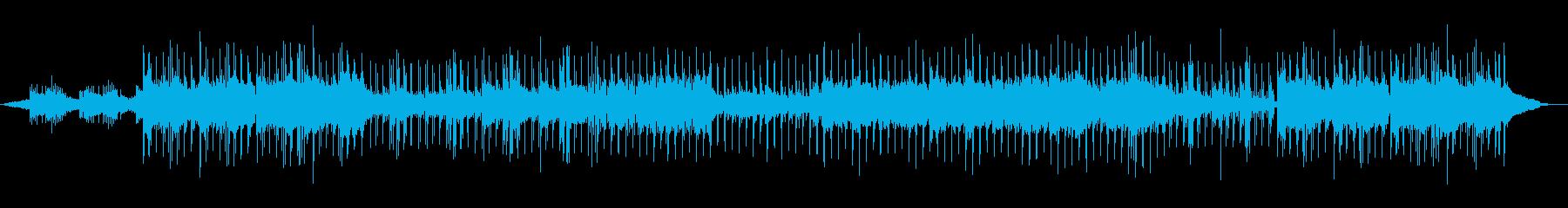 オシャレな雰囲気のテクノポップの再生済みの波形