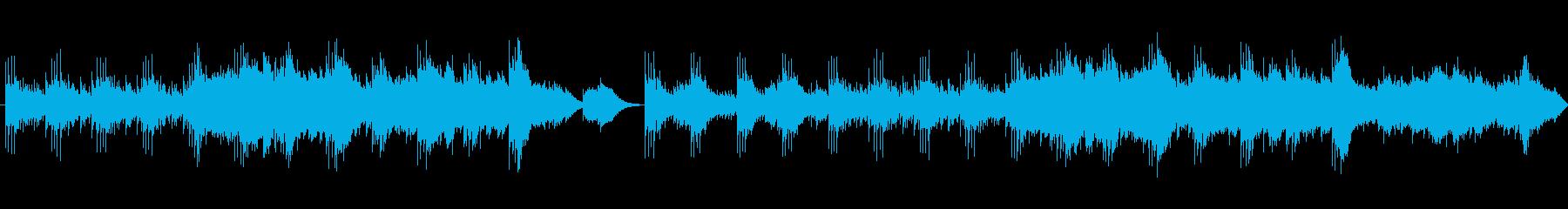 妖艶な雰囲気のコンピューターミュージックの再生済みの波形