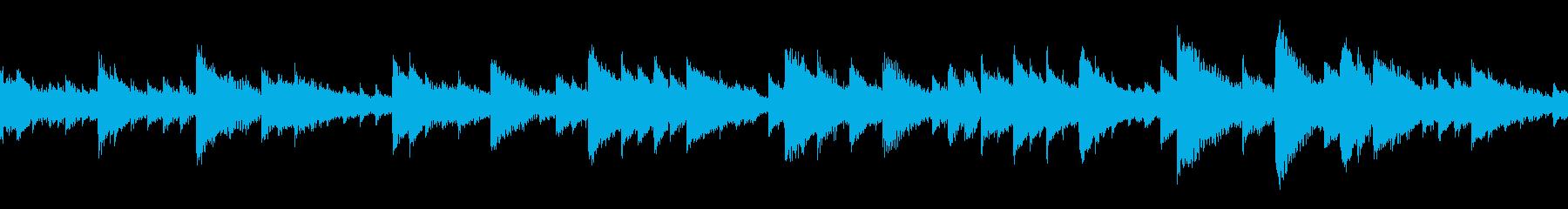 神秘的な雰囲気の謎解き系BGM:ループの再生済みの波形