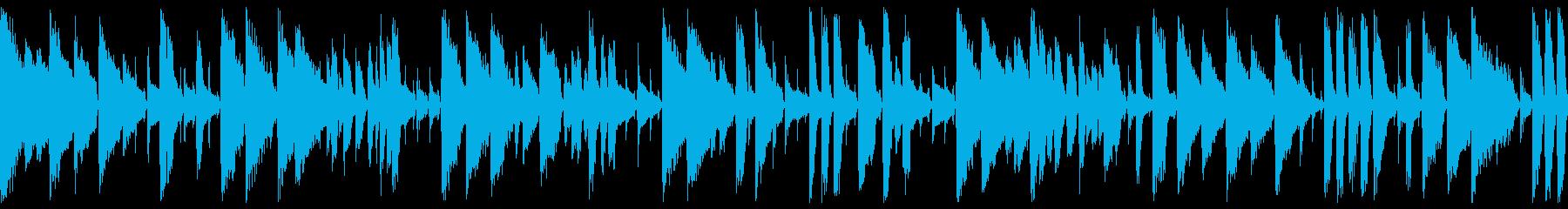 悲しげで美しい暗い ジャズピアノ(ループの再生済みの波形