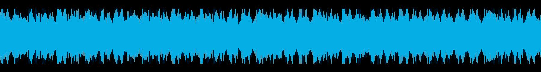 同じフレーズを繰り返すゆったりした楽曲の再生済みの波形