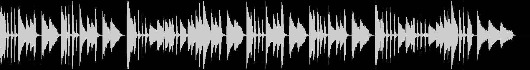 ヤマハ音楽教室の曲_ドイツ民謡「池の雨」の未再生の波形