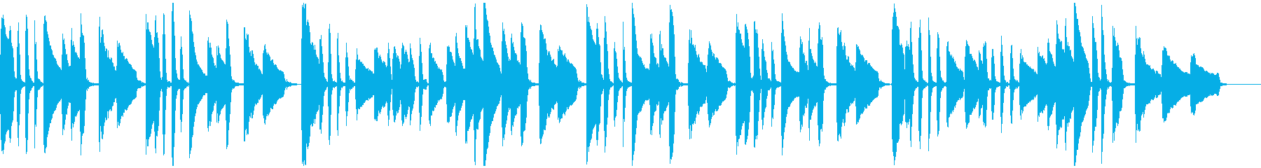 ヤマハ音楽教室の曲_ドイツ民謡「池の雨」の再生済みの波形