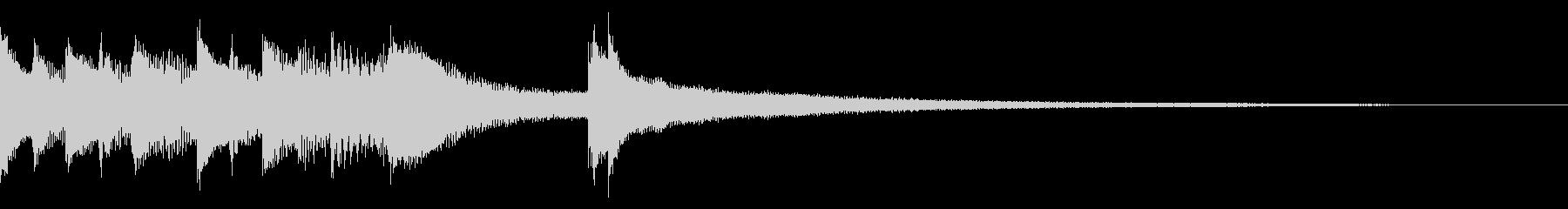 しっとり大人な雰囲気のピアノジングルB1の未再生の波形