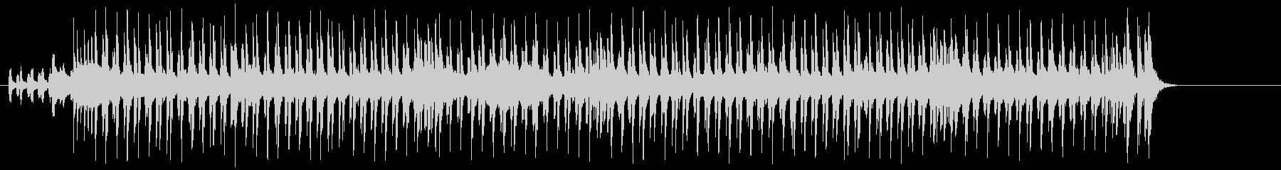 シャッフルする三味線とドライブする笛の未再生の波形