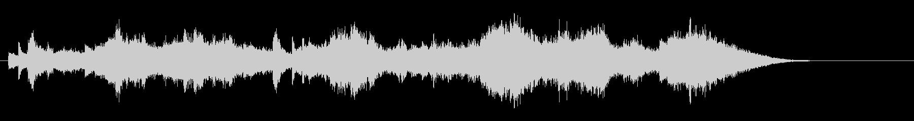 ストリングスとピアノの30秒曲の未再生の波形