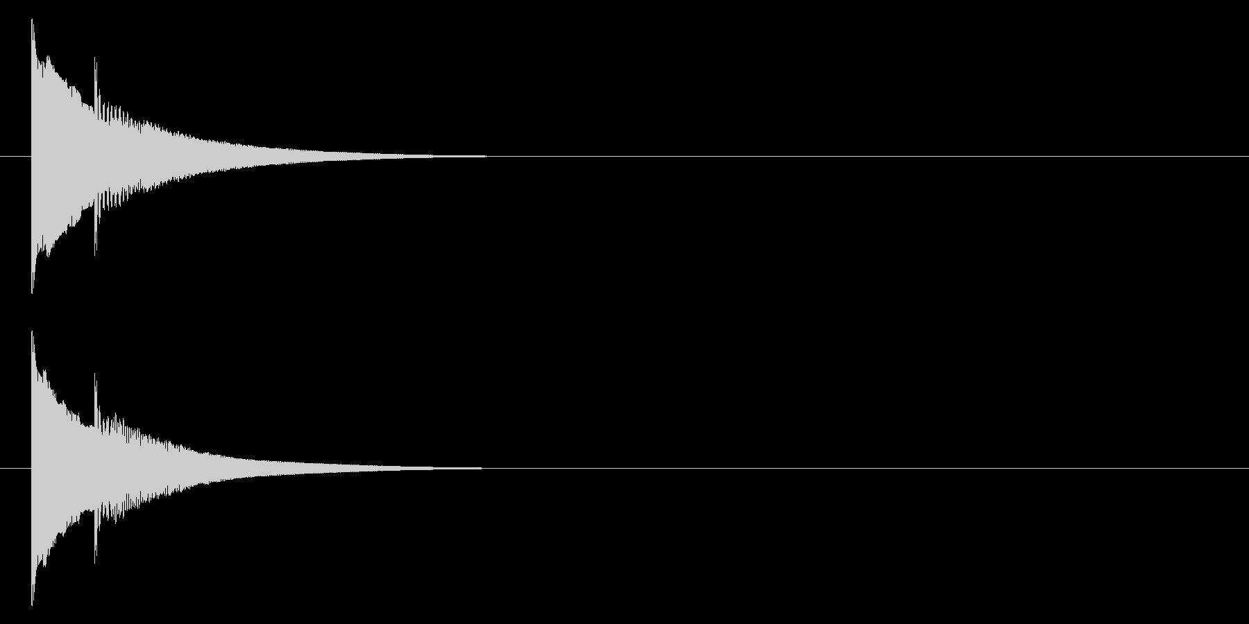 クイズの正解音/回答音/ピンポン_2の未再生の波形