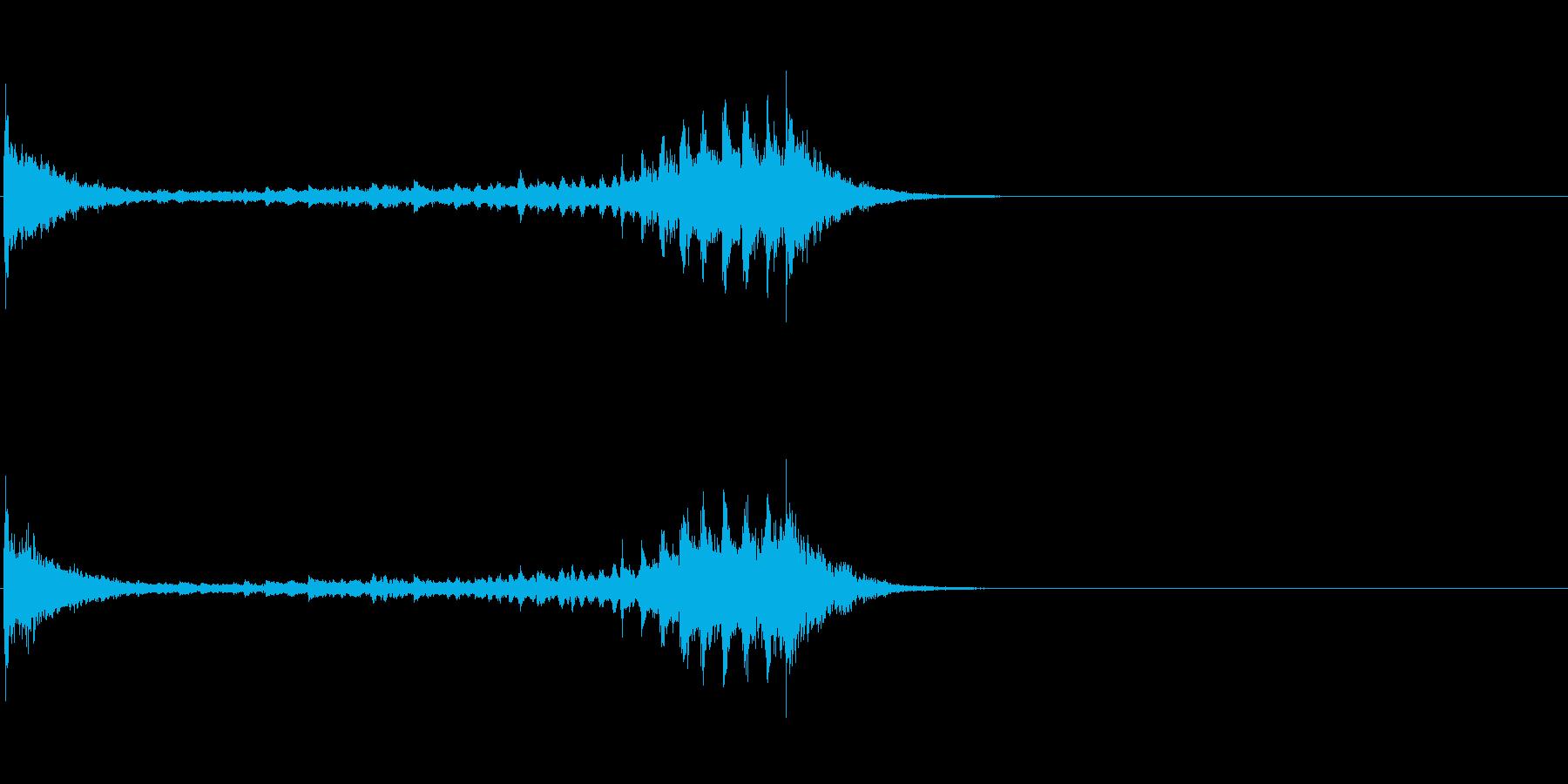 生演奏 琵琶 和風 古典風 残響有#13の再生済みの波形